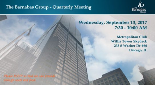 Quarterly Event – within Chicago Loop (September 2017)