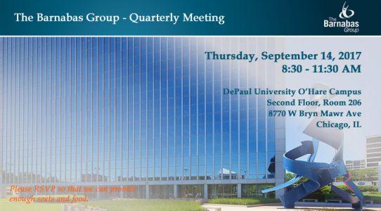 Quarterly Event – O'Hare Area (September 2017)