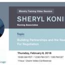 Online Training with Sheryl Konig