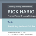 Online Training with Rick Harig