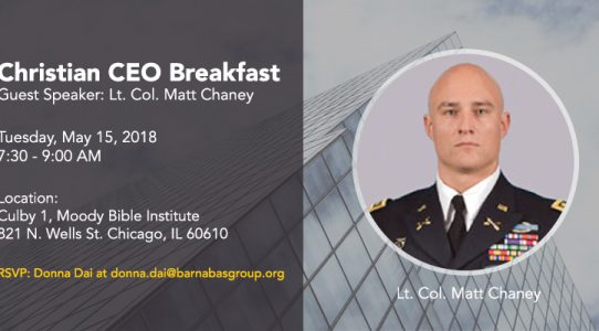 Christian CEO Roundtable     May 2018