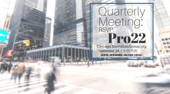 Pro-22 and The Barnabas Group Chicago Quarterly Gathering for Young Professionals